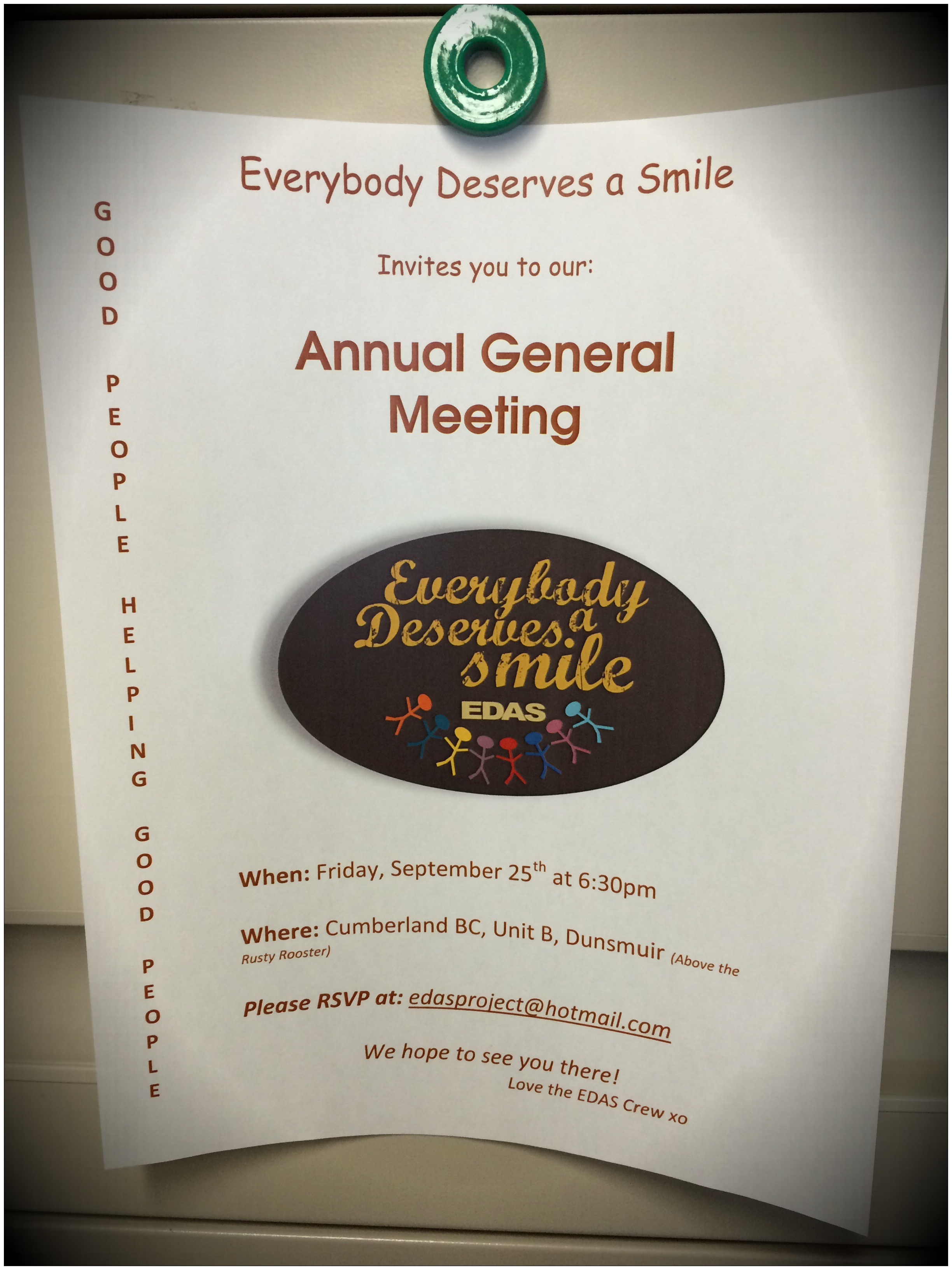 Everybody Deserves A Smile's AGM